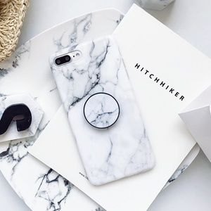 Accessories - NEW iPhone X/78+ Pop Socket Marble Phone case